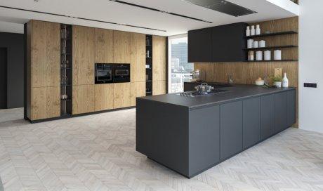 Rénovation de cuisine avec changement de plan de travail sur mesure à Grenoble